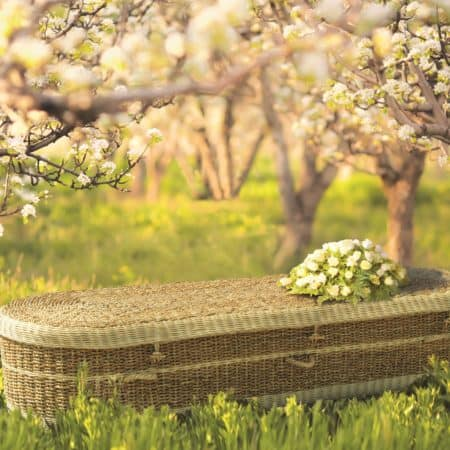 Natural Woven Eco Coffin
